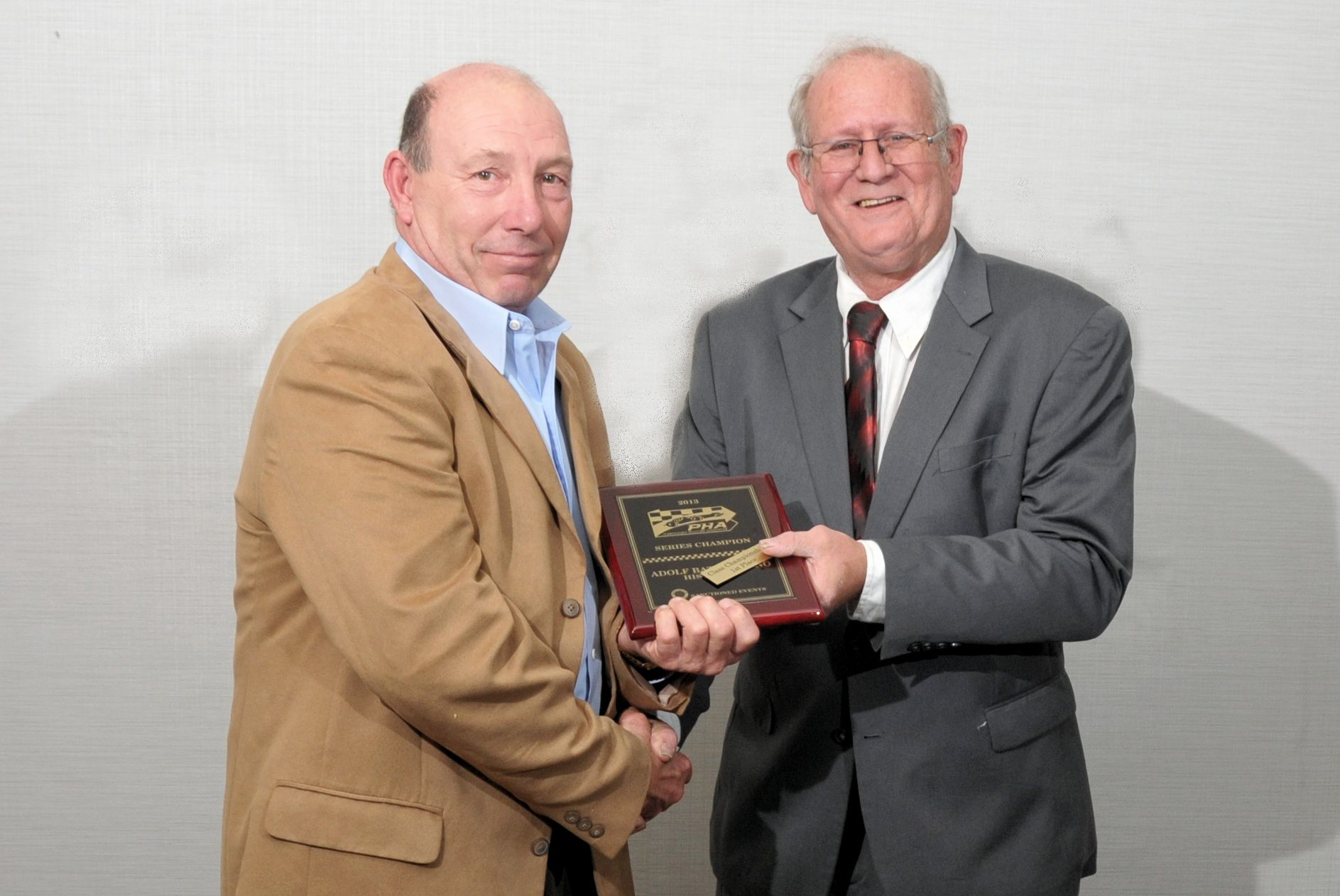 Historic 1 - Adolf Battifarano with PHA President Tom Knorr